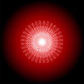 Mandala rouge, ornement indienne indigène de motif ethnique circulaire lumineux — Photo