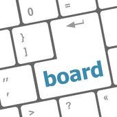 Zarząd przycisk na klawisz na klawiaturze komputera pc — Zdjęcie stockowe