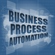 Stock Photo: Business process automation interface hi technology