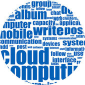 Cloud computing word, business concept — Stock Photo