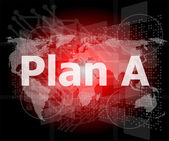 The word plan a on digital screen, business concept — Stockfoto