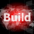 Stock Photo: The word build on digital screen, business concept