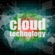 Words cloud technology on digital screen, information technology concept — Stock Photo #39151283