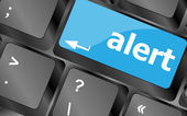 Computer keyboard with attention key alert - business background — Stock Photo