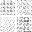 Set of black and white geometric seamless patterns. background — Stock Photo #39171625