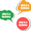 What is a business. Set of stickers, labels, tags. Business banners, Template for infographics — Stock Photo #39203775