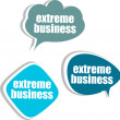 Extreme business. Set of stickers, labels, tags. Business banners, infographics — Stock fotografie