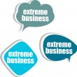 Extreme business. Set of stickers, labels, tags. Business banners, infographics — Stok fotoğraf