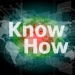 The word know how on digital screen, social concept — Stock Photo #39563059