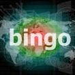 Bingo word on business digital touch screen — Stock Photo