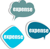 Expense. Set of stickers, labels, tags. Business banners, Template for infographics — Stock Photo