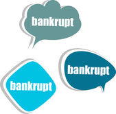 Bankrupt. Set of stickers, labels, tags. Template for infographics — Stock Photo