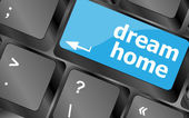 Computer keyboard with dream home key - technology background — Stock Photo