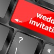 Wedding invitation word button on keyboard key — Stock Photo #39646171