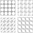 Set of monochrome geometric seamless patterns. background — Stock Photo