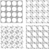 Set of monochrome geometric seamless patterns. background — Stock Photo