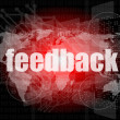 Informationstechnologie It Konzept: Worte Feedback am Bildschirm — Stockfoto #39655257