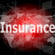 The word insurance on digital screen, business concept — Stock Photo #39659581