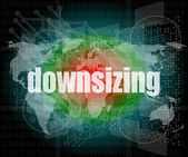 Business concept: words Downsizing on digital background — Stock Photo