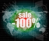 Sale percentage on business digital touch screen — Stock Photo
