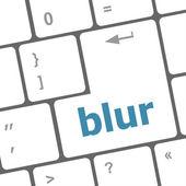Blur button on computer pc keyboard key — Foto de Stock