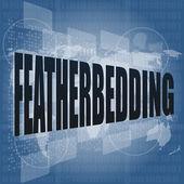 Featherbedding, gränssnitt hej teknik, pekskärm — Stockfoto