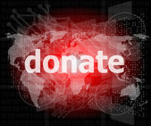 Business concept: words donate on digital touch screen — Stockfoto