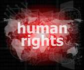 Law concept: words human rights on business digital background — Stock Photo