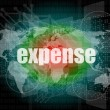 Word expense on digital screen, business concept — Stock Photo #39712127