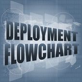 Deployment flowchart on business digital touch screen — Stock Photo