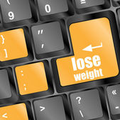 Lose weight on keyboard key button — Stock Photo
