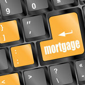 Keyboard with single button showing the word mortgage — Stock Photo