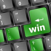 Win word on computer keyboard key button — Stock Photo