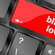 Stock Photo: Modern keyboard key with words blind love