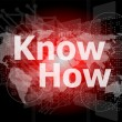 The word know how on digital screen, social concept — Stock Photo #39723117
