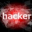 Privacy concept: words Hacker on digital background — Stock Photo #39723271