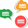 Public relations word on modern banner design template. set of stickers, labels, tags, clouds — Stock Photo #40022313