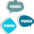 Organize. Set of stickers, labels, tags. Business banners, Template for infographics — Stock Photo #40023323