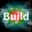 The word build on digital screen, business concept — Stock Photo