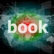 Book word on digital touch screen — Stock Photo
