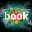 Book word on digital touch screen — Stock fotografie