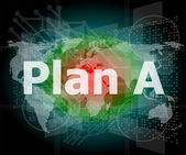 The word plan a on digital screen, business concept — Stock Photo