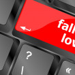Stock Photo: Modern keyboard key with words fall in love