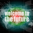Time concept: words Welcome to the future on digital screen, 3d — Stock Photo #40035571