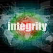 Business concept: word integrity on digital background — Stock Photo #40035865