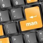 Man word on computer keyboard key — Stock Photo