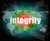 Business concept: word integrity on digital background — Stock Photo