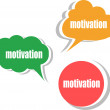 Stock Photo: Motivation. Set of stickers, labels, tags. Business banners, Template for infographics