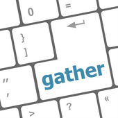 Gather button on computer pc keyboard key — Stock fotografie