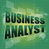 Business concept, business analyst digital touch screen interface — Foto Stock